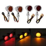 12V 10mm Motorcycle 15 LED Bullet Turn Signal Indicator Brake Lights Universal