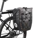 ROCKBROS 27L Bicycle Bag Reflective Waterproof Large Capacity Cycling Rear seat Bike Bag