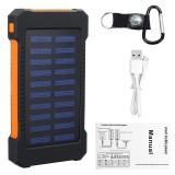 8000mah Solar Chargers Solar Power Bank 8000mah Portable Solar Battery Charger Phone Charger Power Bank with Flashlight