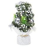 20CM Mini Christmas Tree Flower Table Decor Festival Party Ornaments Xmas Gift Decorations