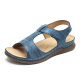 LOSTISY Woman Sandals Soft Bottom Hook Loop Wedge Sandals