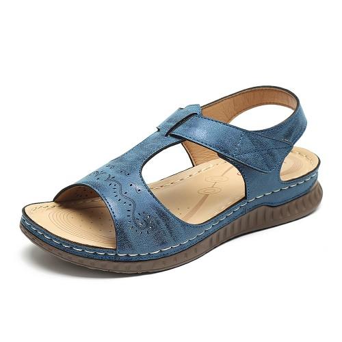 LOSTISY Woman Sandals Soft Bottom Hook Loop Wedge Sandals