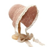 Women Lace Brim Foldable Sunscreen Bucket Straw Hat Outdoor Casual Travel Beach Sea Floppy Hat