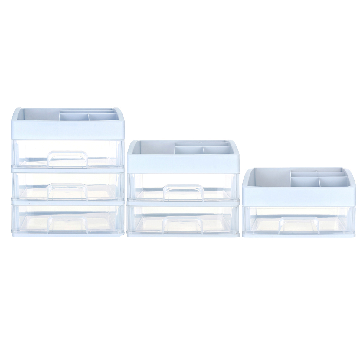1/2/3 Layers Plastic Desktop Organizer Drawer Makeup Holder Box Make Sundry Storage Box Container