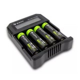Eizfan X4 LCD USB Universal Battery Charger 4 Slots Small Li-ion Charger For Li-ion/NiMh/Lifepo4/18650/26650 Rechargeable Battery