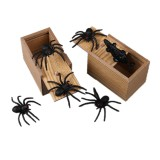Prank Spider Inset Wooden Scare Box Trick Play Joke Lifelike Surprise April Fools' Day Funny Novelties Toys Gags Practical Gifts