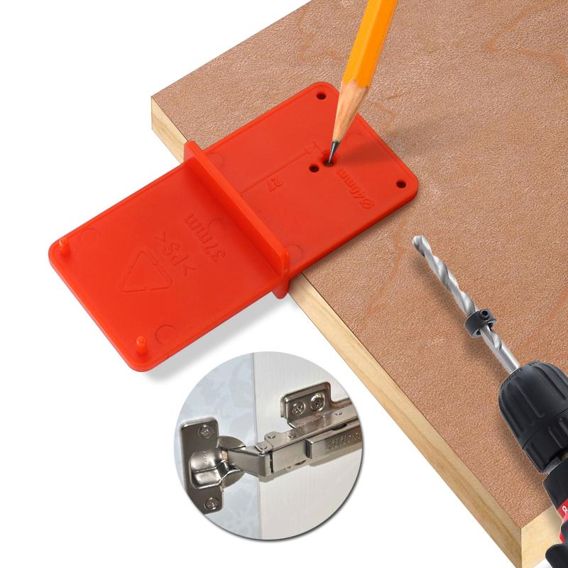 35mm 40mm Hinge Hole Drilling Guide Locator Holes Opener Door Woodworking L5Z0