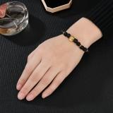Retro Leopard Beaded Bracelet Natural Stone Bracelet For Men Volcanic Rock Bracelet