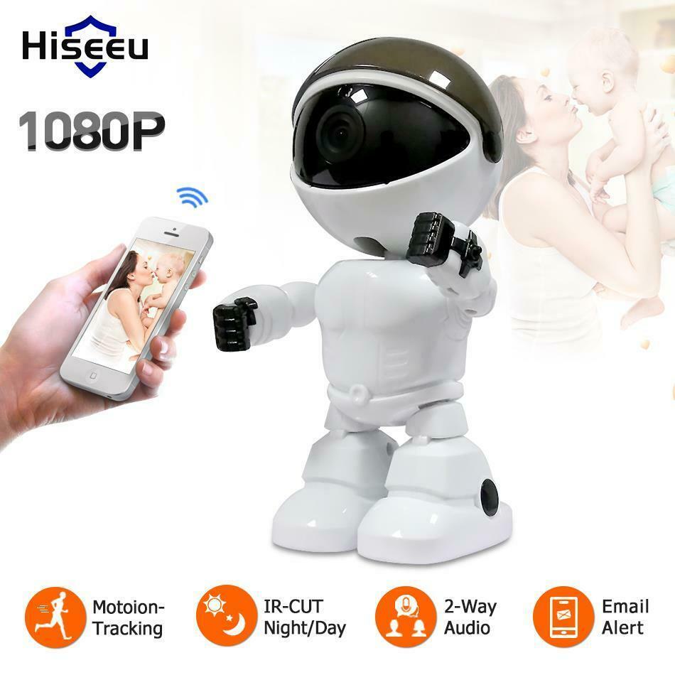 Hiseeu 2Mp/1.3Mp HD Wireless IP Camera Wi-Fi Robot Camera 1080P Wifi Night Vision EU Plug