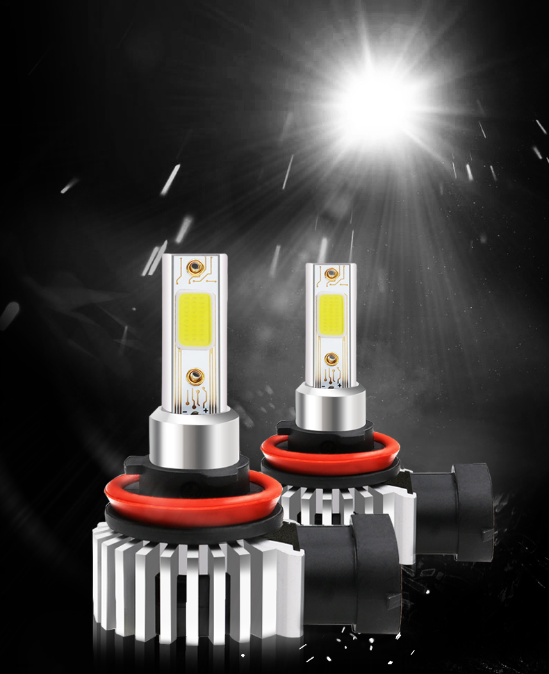 D9 60W 8000LM LED Car Headlights Bulbs Fog Lamp H8/H9/H11 9005 9006 6000K Replace Xenon HID Halogen