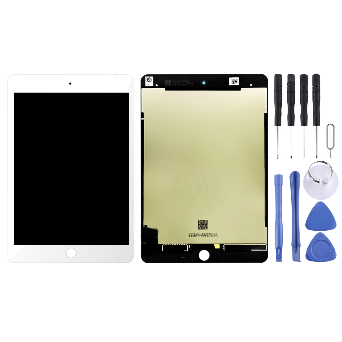 LCD Screen and Digitizer Full Assembly for iPad Mini (2019) 7.9 inch A2124 A2126 A2133 (White)