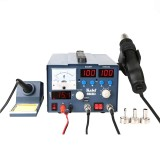 Kaisi K-863D 3 in 1 Hot Air Gun Soldering Station SMD Rework Station With 3A DC Power Supply for Phone PCB Welding Repair Machine, EU Plug