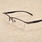 Men Vogue Vintage Multi-focus Look Far And Near Multifunctional Metal Reading Glasses