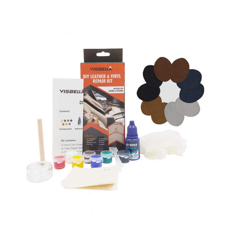 Visbella Leather Vinyl Repair Kit Glue Color Paste Car