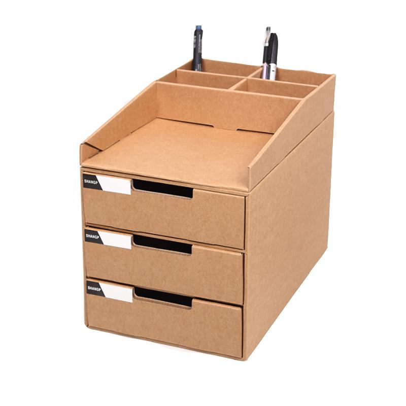 Desktop File Storage Box Brown Paper, Desktop File Storage Box
