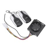 48V-72V 125dB Anti-theft Motorcycle Scooter Alarm 2 Remote Control Security System