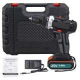 25V Multifunctional Electric Drill High-Power Household Electric Screwdriver 2.2Ah Lithium Battery Power Drills