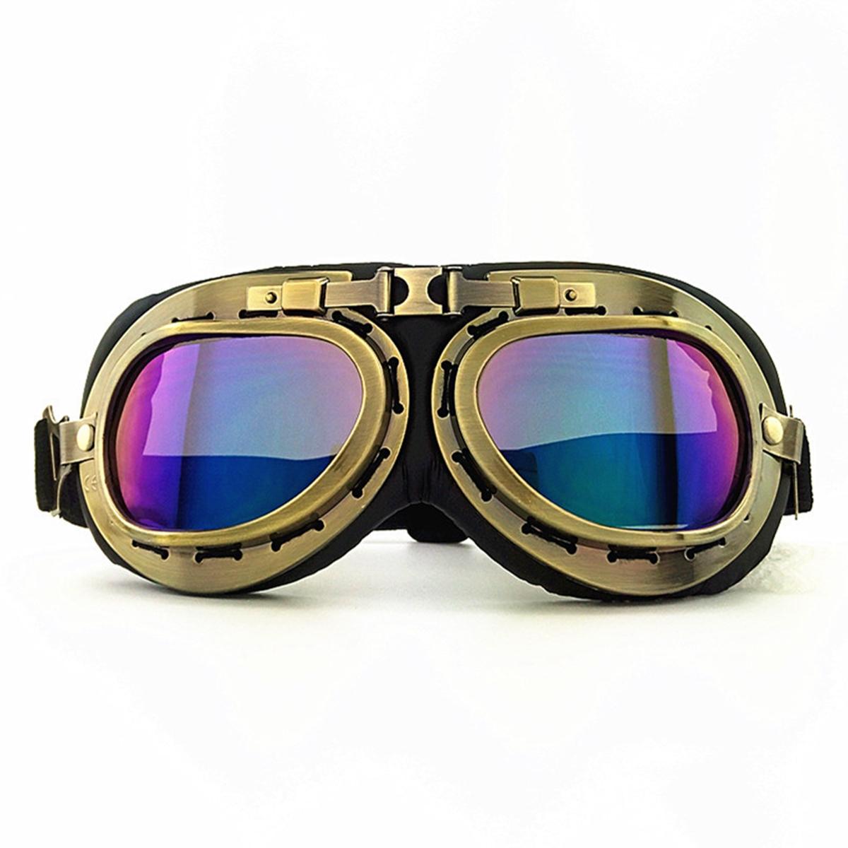 Retro Vintage Motorcycle Helmet Eyewear Goggles Riding Glasses For Harley