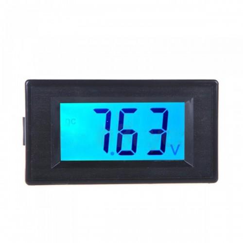 DDH-30L LCD Voltage Tester Digital Display Voltmeter Digital LCD DC Voltage Meter DC 7.5-20V Blue Backlight Instrument Meter Tool
