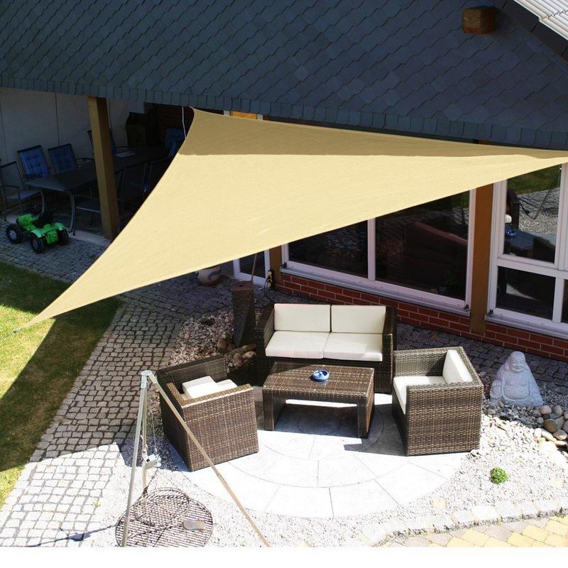 IPRee 3x3m Triangle Sun Sail Shade Outdoor Camping Tent Sunshade Waterproof Anti-UV Beach Canopy Awning Shelter Tarp