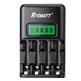 RYDBATT JBC03-11 4 Slots LCD Display Smart Battery Charger for AA AAA Battery