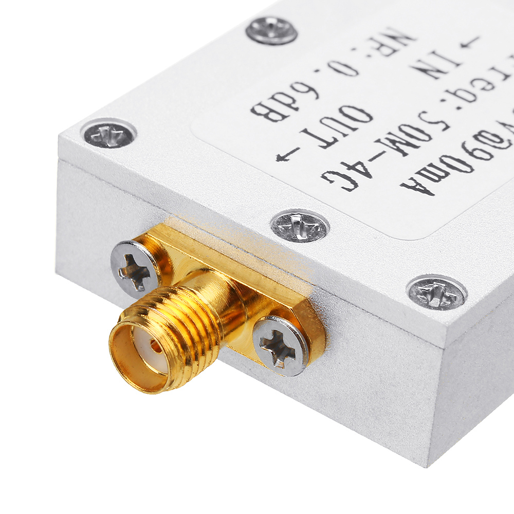 RF Amplifier Low Noise Amplifier Ham Radio Module LNA 50M-4GHz NF=0.6dB RF FM HF VHF / UHF Ham Radio -110dBm