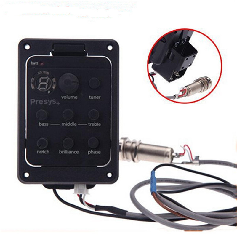 Folk Acoustic Guitar Pickup Presys Blend Dual Mode Equalizer With Mic Beat Board Pickups