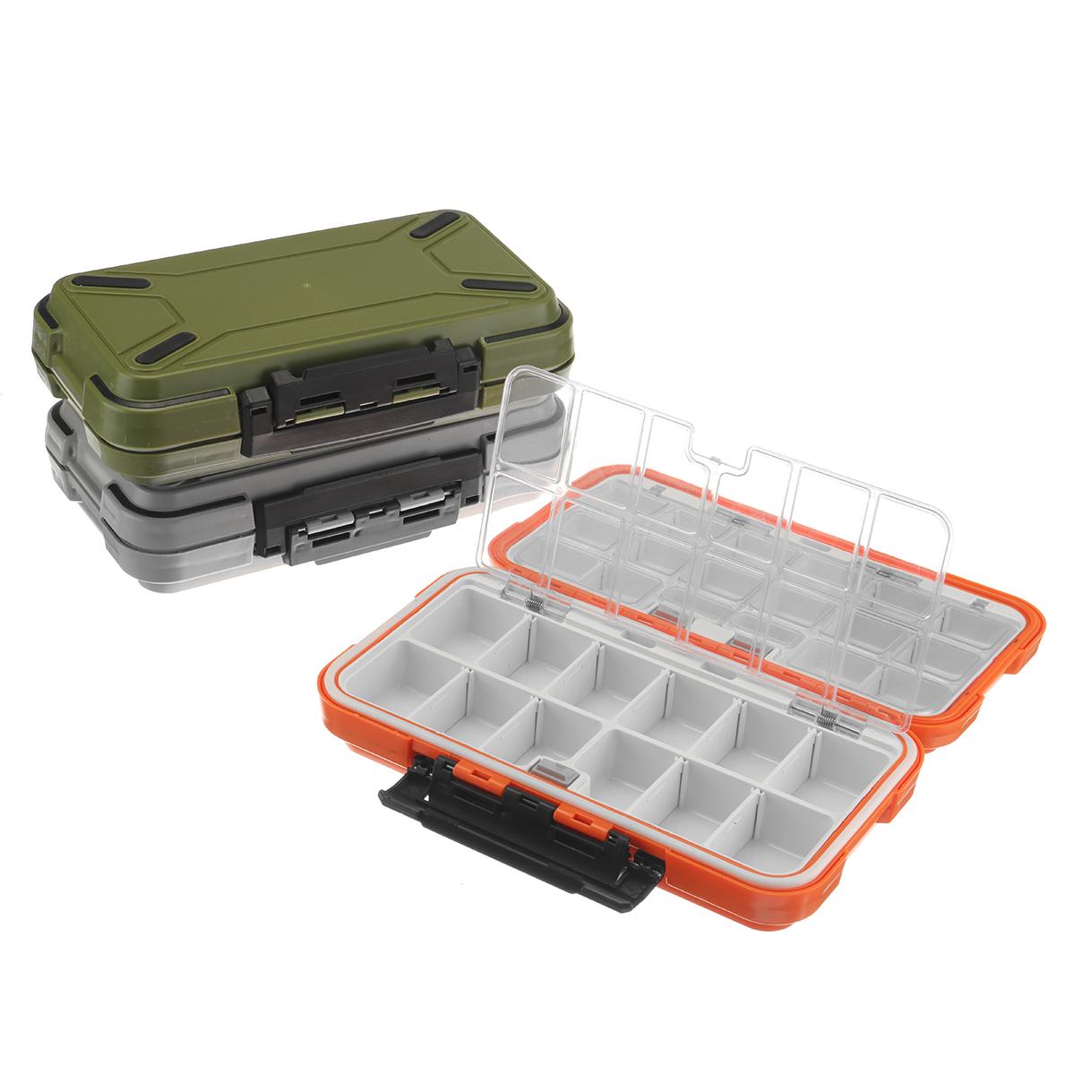 Small Plastic Fishing Lure Fish Hook Bait Storage Tackle Organizer Case Box