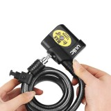 ULAC AL-3P 12mm Alarm System Security Bike Lock Cable Lock Waterproof Bicycle Cycling Motorcycle