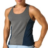Men's Vest Sleeveless T-shirt Jersey Stretch Cotton Fitness Sports Vest Xiaomi T-shirt