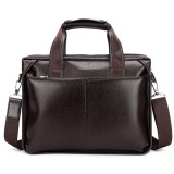 Men Genuine Leather Business Handbag Laptop Bags Briefcase Shoulder Bag