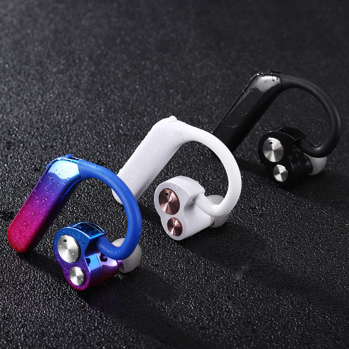 [True Wireless] bluetooth 5.0 TWS Earbuds Binaural Stereo IPX7 Waterproof Noise Reduction Handsfree Dual Dynamic Earphone With Mic