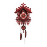 Handcraft Cuckoo Wall Clock Wood Forest Tree House Swing Clock Art Home Decor