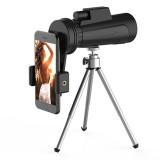 IPRee 12X50 Monocular HD Full Optic BAK4 Lens Day Night Vision Waterproof Telescope+Phone Holder+Tripod