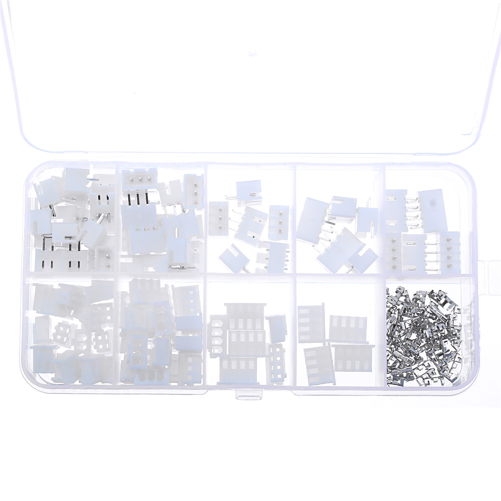 750pcs 2/3/4Pin JST-XH 2.54mm Dupont Connector Male/Female Wire Cable Jumper Pin Header Housing Connector Terminal Kit