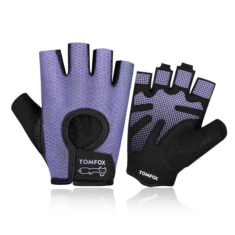 Men Women Half Finger Gloves Fitness Cycling Motorcycle Bike Training Gym Exercise Sports