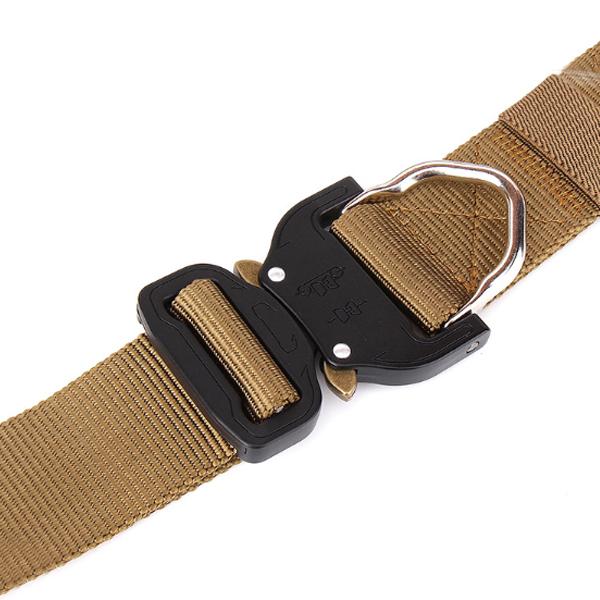ENNIU FA39 125cm x3.8cm Nylon Wrist Belt Punch Free Quick Release Inserting Buckle Tactical Belt Leisure Belt