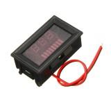 3pcs 12-60V ACID Red Lead Battery Capacity Voltmeter Indicator Charge Level Lead-acid LED Tester