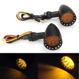 12V Universal Motorcycle Motorbike Yellow LED Bullet Turn Signal Indicator Light