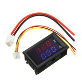 3pcs Mini Digital Voltmeter Ammeter DC 100V 10A Panel Amp Volt Voltage Current Meter Tester 0.56″ Blue Red Dual LED Display