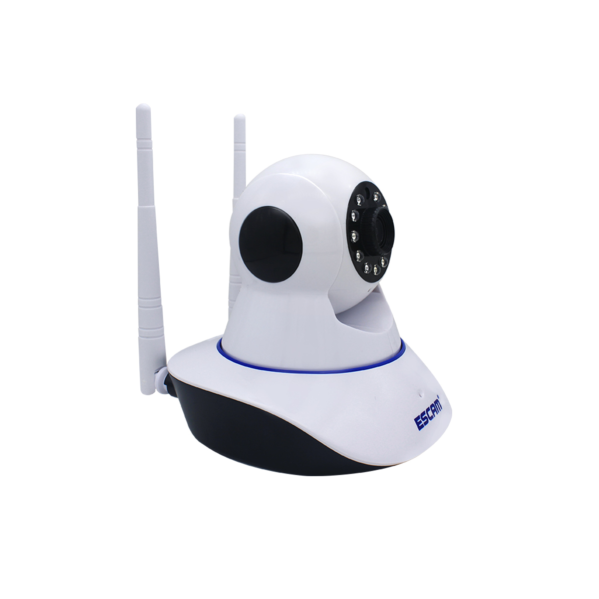 ESCAM G01 HD 1080P 200WDual Antenna 1080P Pan/Tilt WiFi IR IP Camera Support ONVIF Two Way Talk Night Vision EU Plug