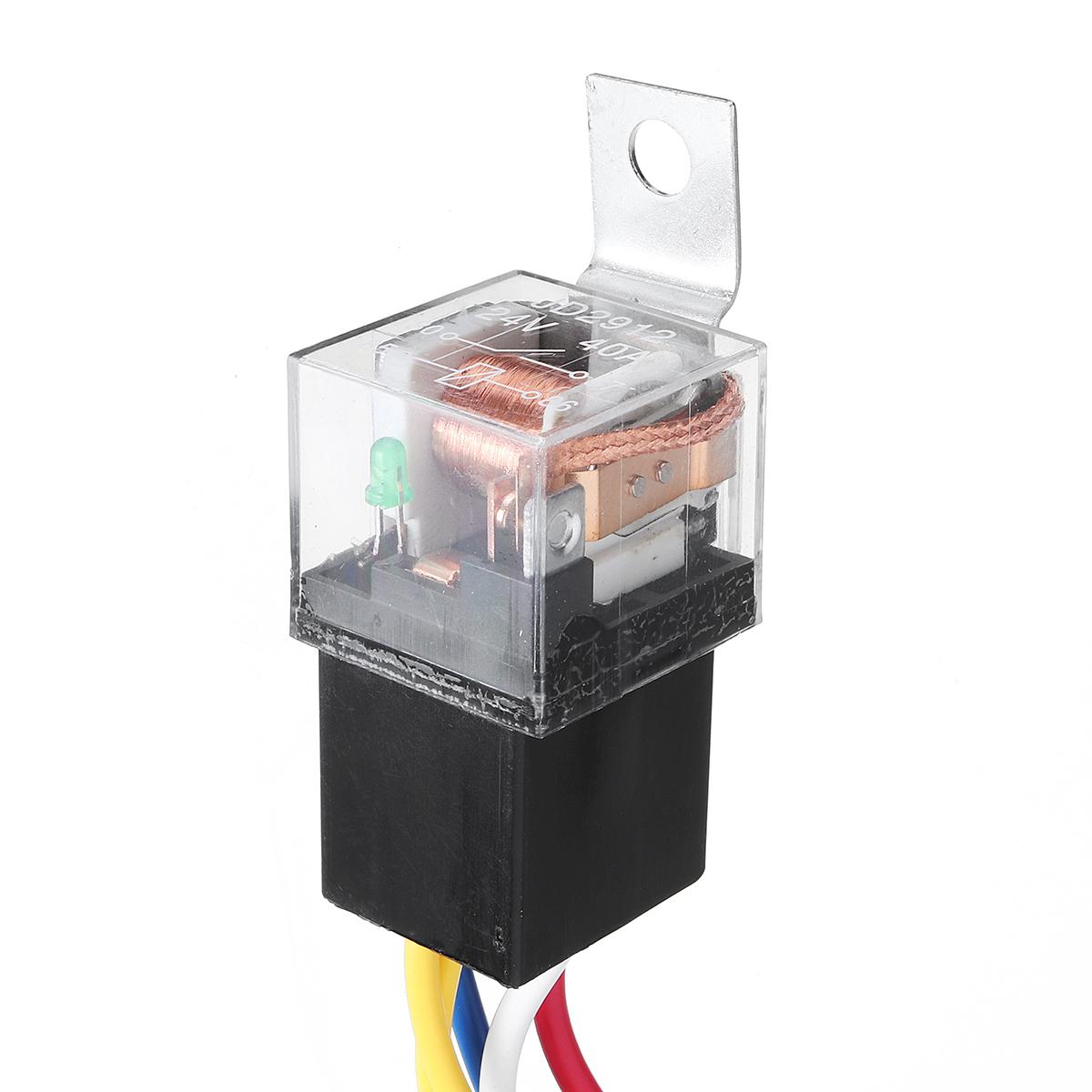 12/24V 100CM Horn Wiring Harness Relay Kit Double Speaker Harness For Car Truck