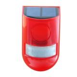 6 LED Solar Alarm Red Lamp Motion Sensor Warning Sound Light Waterproof for Garden Factory Warehouses