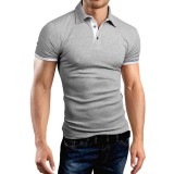 Men's Casual Walking Shirt Short Sleeve T-Shirts Cotton T-Shirt Button Casual Slim Top XIAOMI T-Shirt