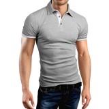 Men's Casual Walking Shirt Short Sleeve T-Shirts Cotton T-Shirt Button Casual Slim Top XIAOMI T-Shirt