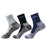 SANTO S014 1 Pair Men Cotton Tube Socks Thicken Winter Sock Soft Sports Fitness Hiking Running Skiing Socks