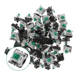 70PCS Pack 3Pin Gateron Clicky Green Switch Keyboard Switch for Mechanical Gaming Keyboard