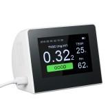 K6-B K6-D Digital Multifunctional Gas Analyzer Air Quality Tester Indoor/Outdoor CO2 Meter HCHO & TVOC Detector Monitor