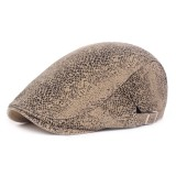 Mens Leopard Painter Beret Hat Outdoor Adjustable Newsboy Cabbie Flat Caps