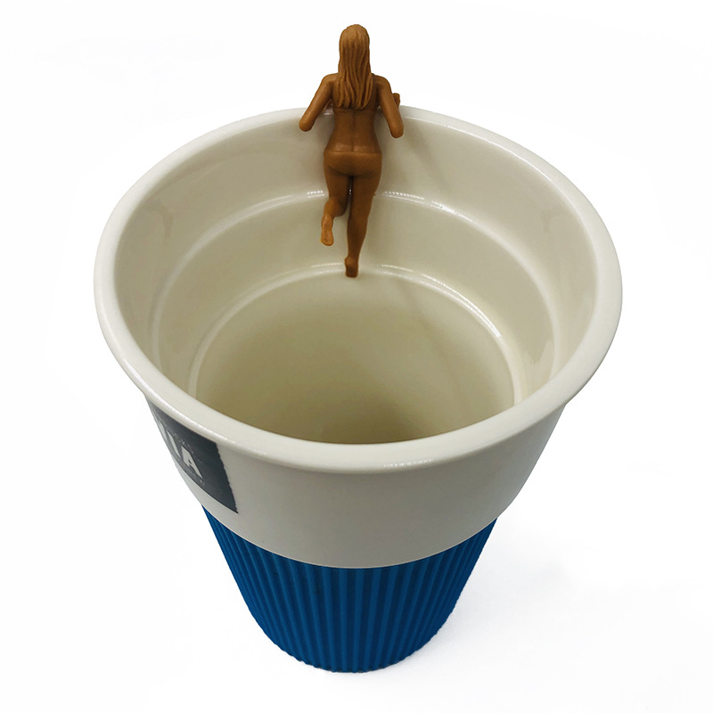 Cup Edge Hanging Doll Hand-made Creative Realistic Miniature Figure Office Gift Decor